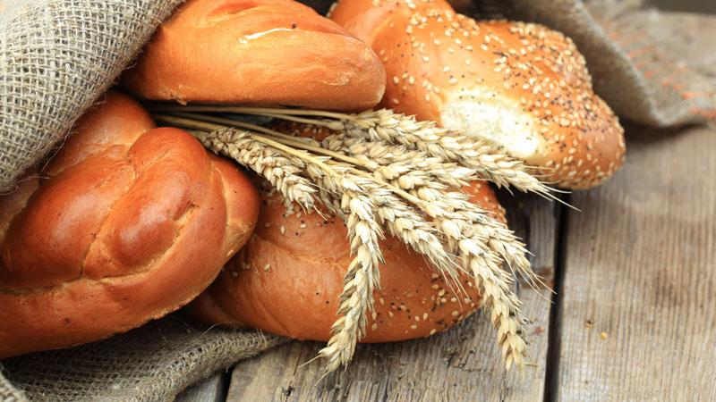 Panetteria con la macchina del pane